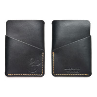 SLIM CARD CASE (BLACK LEATHER)