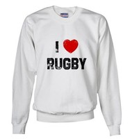 I Rugby Love Sweatshirt by CafePress