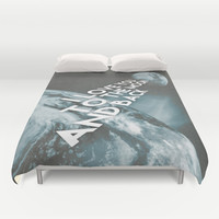I love you to the moon and back Duvet Cover by Cafelab