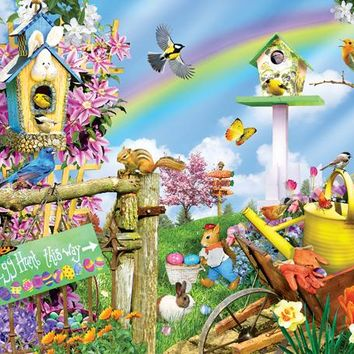 Spring Egg Hunt 500pc Jigsaw Puzzle