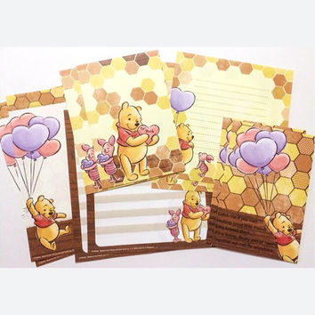 Winnie the Pooh and Piglet Letter Set - Japanese Disney Stationery Variety Pack