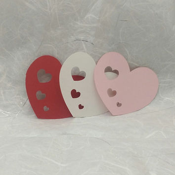 36 Heart to Hearts, Scrapbooking, Embellishment, Card Making, Valentine Decoration