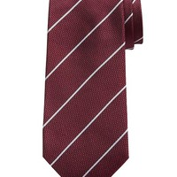 Banana Republic Micro Stripe Silk Tie Size One Size - Red
