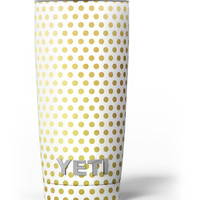 The All Over Golden Dot Pattern Yeti Rambler Skin Kit