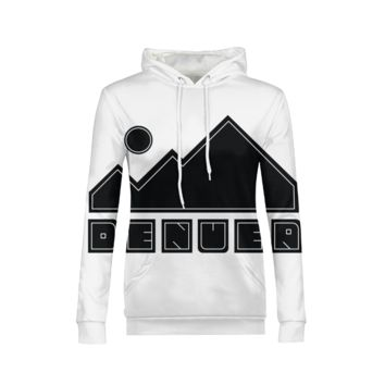 DenvER_MOuntains Women Apparel WOMENS ALL-OVER PRINT HOODIE