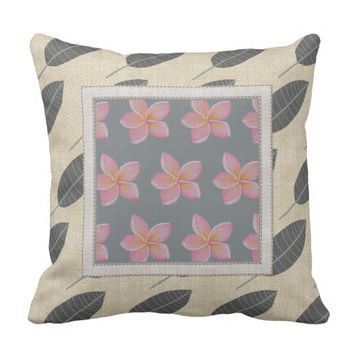 Plumeria Designer Outdoor Pillow