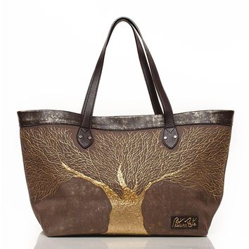 Sepia Golden Roots Tote