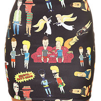 O-Mighty Skirt Beavis and Butthead in Black