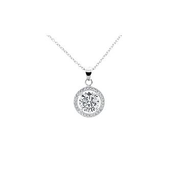 "Ariel ""Tempest"" 18k White Gold Plated Pendant Necklace"