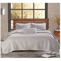 Melby Grey Jersey Bedding Quilt Set