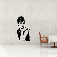 Hepburn Vinyl wall decal