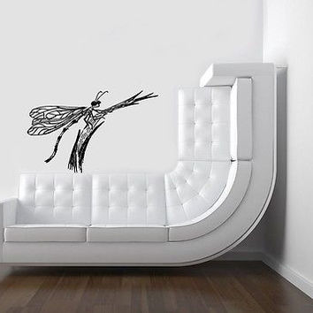 Wall Mural Vinyl Sticker Decal Animal Predator Dragonfly (Ab1414)