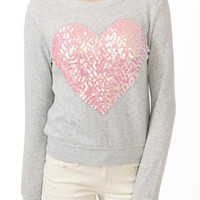 Sequined Heart Pullover