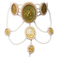 2000s Christian Dior Victorian style necklace