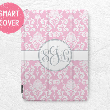 Damask style Personalized iPad Smart Cover, lace pattern Monogram custom name case for iPad Mini, iPad mini 2 retina, iPad Mini 3