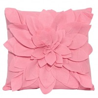 Wake Up Frankie - How I Felt Flower Dec Pillow (Square) - Light Pink : Teen Bedding, Pink Bedding, Dorm Bedding, Teen Comforters