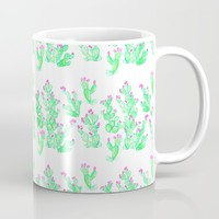 Prickly Pear Spring - White Mug by Lisa Argyropoulos | Society6