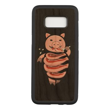 Self Eating Cannibal Pig Cut In Steaks Carved Samsung Galaxy S8 Case