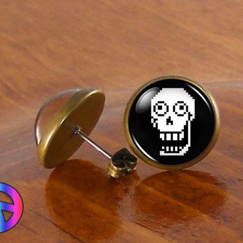Undertale Papyrus Game Gamer Gaming Fashion Stud Earrings Jewelry Gift Present