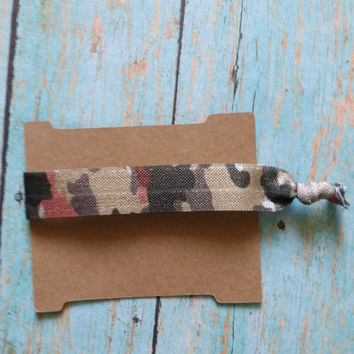 Camo Yoga Hair Tie / Yoga Hair Ties / Workout Accessories / Yoga Apparel / Affordable Hair Ties / Gym Apparel / Affordable Gym Wear