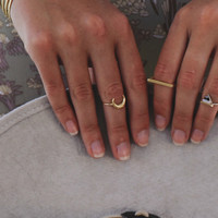 Gold Moon Midi Ring