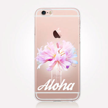 Transparent Aloha iPhone Case - Transparent Case - Clear Case - Transparent iPhone 6 - Transparent iPhone 5 - Transparent iPhone 4