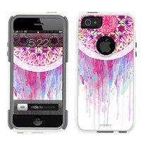 iPhone 5 White Case Watercolor Dream Catcher (comparable to Otterbox Commuter)