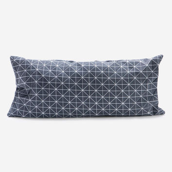 Origami Geometric Rectangle Pillow Cover – Gray
