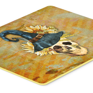 Day of the Dead Witch Skull  Kitchen or Bath Mat 24x36 BB5126JCMT