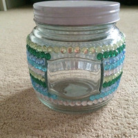Rhinestone Glass Jar