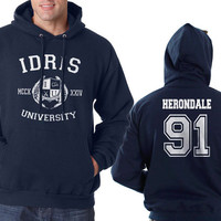 Herondale 91 Idris University Unisex Hoodie S to 3XL Navy Blue