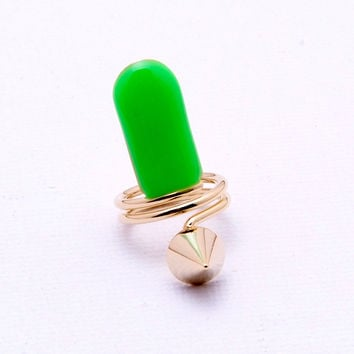 Color Me Ring - Neon Green