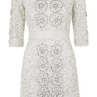 Limited Edition Embellished Dress - White