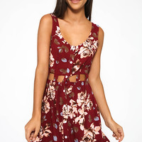 Another Song Dress - Maroon Floral