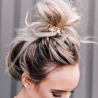 Golden Coins Bun Wrap - Black