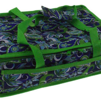 Blue Green 13 x 8 Rectangle Casserole Food Dish Insulated Travel Carry Bag Tote