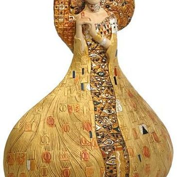 Adele Block Bauer Portrait Bell Shaped Grande Statue by Klimt 9.5H