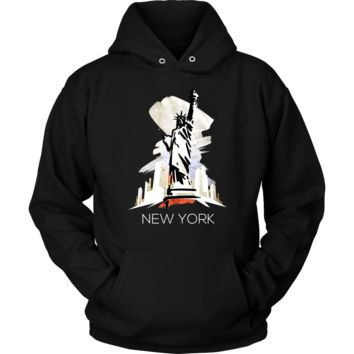 NYC Love New York State Flag Statue Of Liberty Hoodie