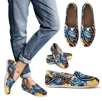 Watercolor DNA Chain Casual Shoes