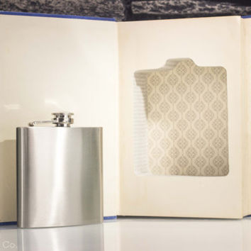 Hollow Book & Whiskey Hip Flask - Vintage (1938) - The Basic Writings of Sigmund Freud