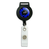 Yo Hello How's It Going Retractable Badge Card ID Holder