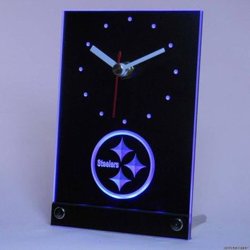 Pittsburgh Steelers Desk Clock with 3D Technology