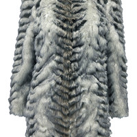 Boutique Frankie Round Neck Fur Coat