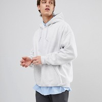 Reclaimed Vintage Inspired Oversized Hoodie In Light Gray at asos.com