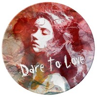 Dare To Love | Decorative Porcelain Plate