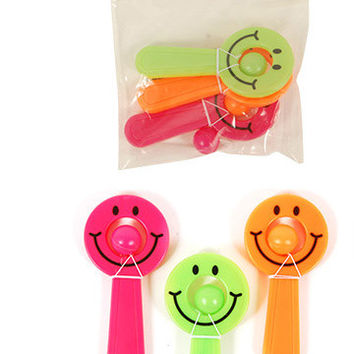 Paddle and Ball Toys - Party Favor Smiley Face 3 count Case Pack 48