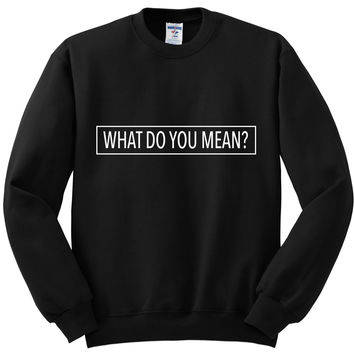 "Justin Bieber ""What Do You Mean?"" Box Crewneck Sweatshirt"