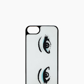 Kate Spade Lenticular Eyes Iphone 5 Case Cream/Black ONE