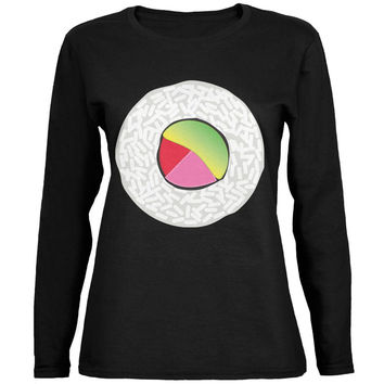 Halloween Sushi Costume 2 Black Womens Long Sleeve T-Shirt