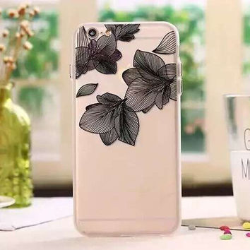 Womens Lace Leaf iPhone 5S 6 6S Plus Case High Quality Solid Cover + Nice Gift Box 452